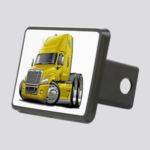 Freightliner Yellow Truck Rectangular Hitch Coverl