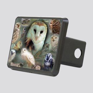 Happy Owls Rectangular Hitch Cover
