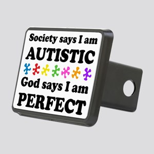 Autistic=Perfect Rectangular Hitch Cover