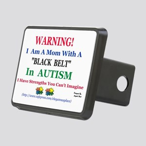 black belt cap mom Rectangular Hitch Cover