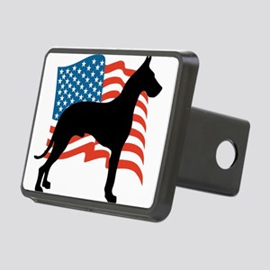 USA Great Dane Patriotic D Rectangular Hitch Cover