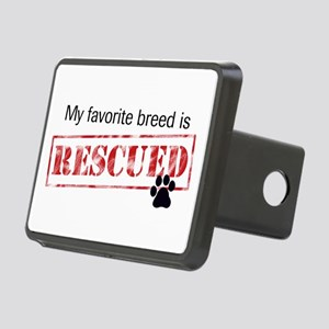 My Favorite Breed Is Rescued Hitch Cover