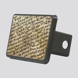 Poe Raven Text Pattern Rectangular Hitch Cover