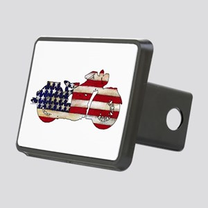 Flag-painted motorcycle-1 Hitch Cover