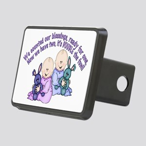 8 double the fun Rectangular Hitch Cover