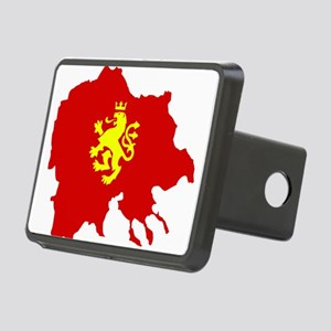 Macedonia Lion Flag and Map Rectangular Hitch Cove