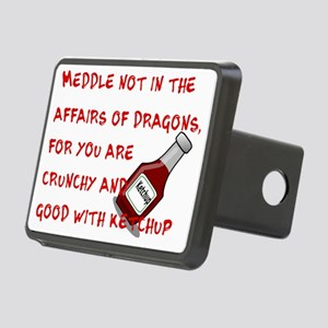 MEDDLE NOT IN THE AFFAIRS  Rectangular Hitch Cover