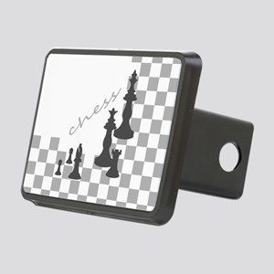 Chess King and Pieces Rectangular Hitch Cover