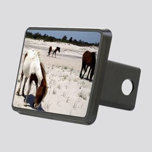 Assateague ponies Rectangular Hitch Cover