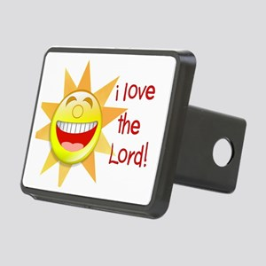 i love the Lord sun Rectangular Hitch Cover