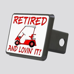 Retired And Lovin' It Rectangular Hitch Cover