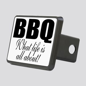 BBQ is life Rectangular Hitch Cover