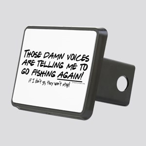 Listen to the fishing voices Rectangular Hitch Cov