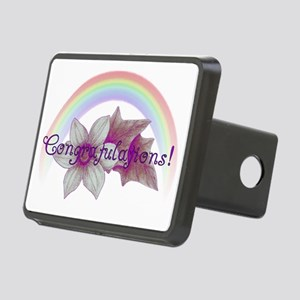 Rainbow Marriage Congratul Rectangular Hitch Cover