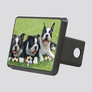 Easter boston terriers Rectangular Hitch Cover