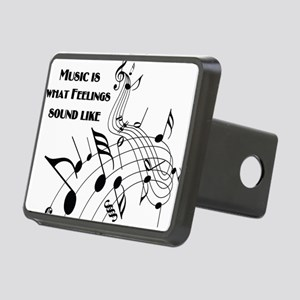 Music Is What Feelings Rectangular Hitch Cover