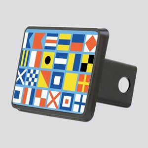 Nautical Flags Rectangular Hitch Cover