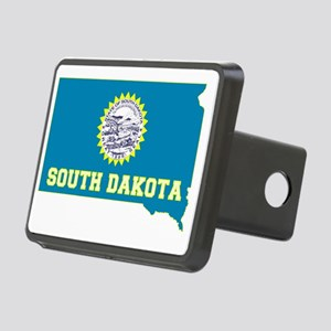 South Dakota State Flag an Rectangular Hitch Cover
