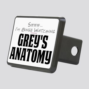 Shhh... I'm Binge Watching Grey's Anatomy Rectangu