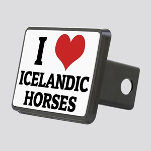ICELANDIC HORSES Rectangular Hitch Cover