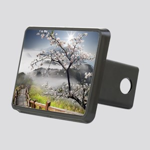 Japanese Cherry Landscape Rectangular Hitch Cover