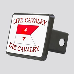 4th Squadron 7th Cavalry c Rectangular Hitch Cover