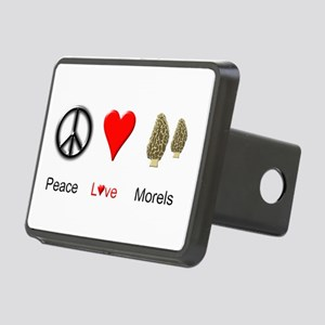 Peace Love Morels Rectangular Hitch Cover