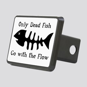 Only Dead Fish Rectangular Hitch Cover