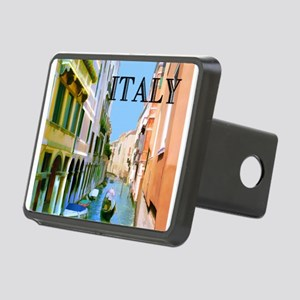 Gondolier in Canal in Veni Rectangular Hitch Cover