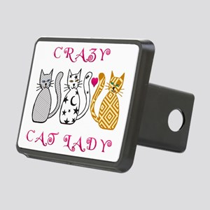 Crazy Cat Lady Rectangular Hitch Cover