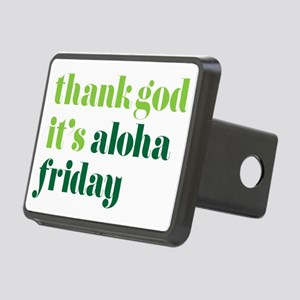 Thank God Its Aloha Friday Rectangular Hitch Cover