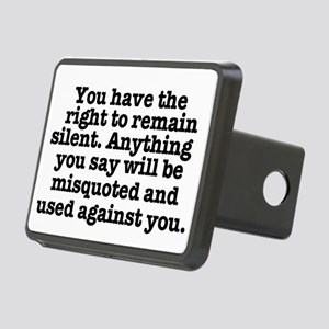 YOU HAVE THE RIGHT TO REMA Rectangular Hitch Cover
