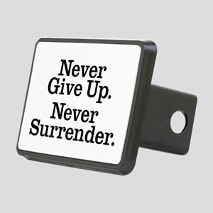 never_give_up Rectangular Hitch Cover