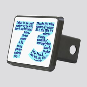 blue blue73, letters insid Rectangular Hitch Cover