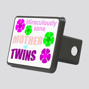 Sane mother of twins Rectangular Hitch Cover