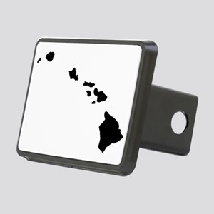 Black Hawaii Rectangular Hitch Cover