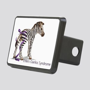 zebra with ribbon NO Backg Rectangular Hitch Cover