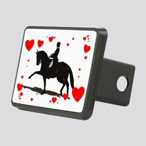 Dressage and Hearts Rectangular Hitch Cover