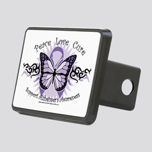 AlzheimersTribal-Butterfly Rectangular Hitch Cover