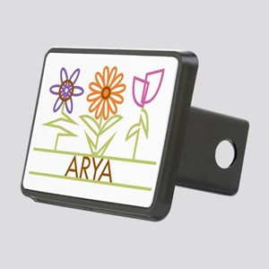 ARYA-cute-flowers Rectangular Hitch Cover