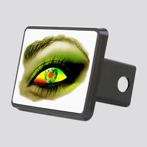 eye OF A LADY copy Rectangular Hitch Cover