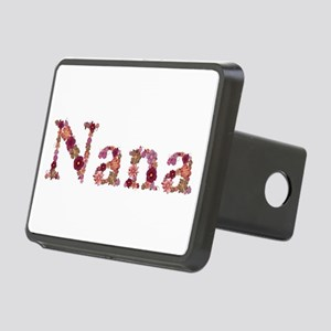 Nana Pink Flowers Rectangular Hitch Cover
