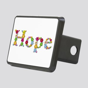 Hope Bright Flowers Rectangular Hitch Cover
