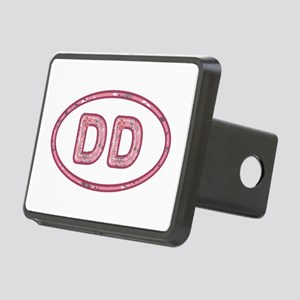 DD Pink Rectangular Hitch Cover