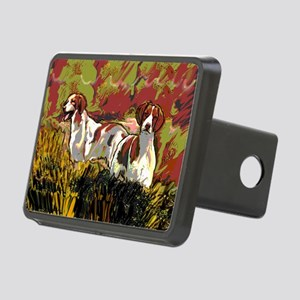 Brittany spaniels in the f Rectangular Hitch Cover