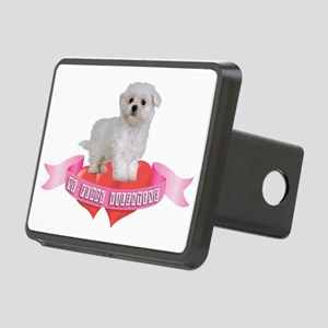 FIN-maltese-valentine-CROP Rectangular Hitch Cover