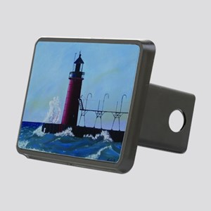 South Haven Lighthouse Rectangular Hitch Cover