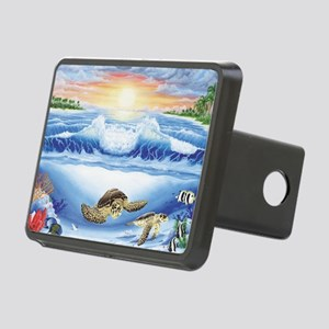 turtles world large Rectangular Hitch Cover