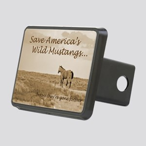 Stallion 3-Sepia Save the  Rectangular Hitch Cover