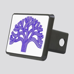 Oakland Tree Blue Rectangular Hitch Cover